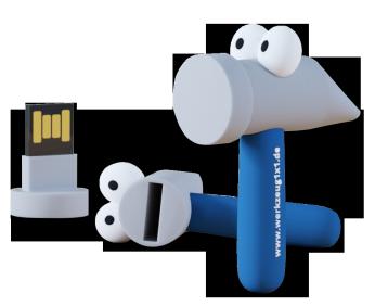 Werkzeug1x1 USB Stick Hammer